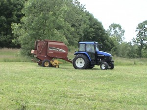 New Holland Tractor and Baler