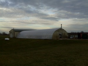 Greenhouse sporting a new plastic cover
