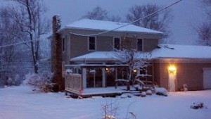 Our House covered in snow.
