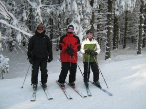 Todd, Scott and Michelle on a trip to Holiday Valley