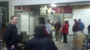 Todd (my bro-in-law the wine maker) chatting up folks at Open House