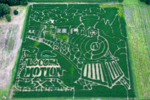 Our 2013 Corn Maze Aireal Photograph