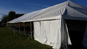 A 40' by 120 foot long tent