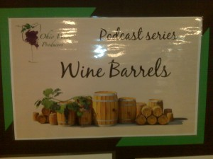 Pod Cast Display in Winery Tasting Area