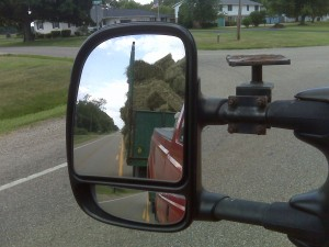 Lookin' in the sideview mirror