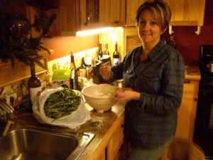 Fresh, Homegrown, Green beans in January!
