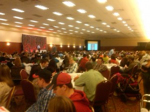 Naw! This is the Keynote crowd!  I had much smaller room!