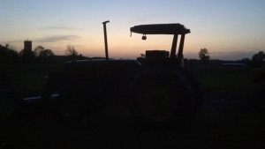 The sun was setting on the way we used to farm.