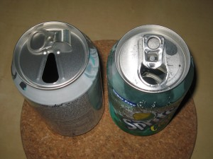 Old pop can vs. new